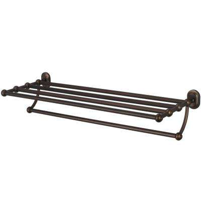 29 in. Towel Bar and Bath Train Rack in Oil Rubbed Bronze