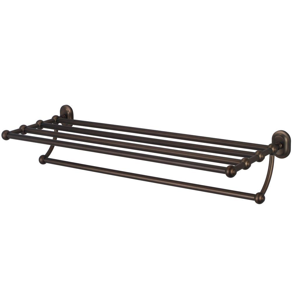 Water Creation 29 in. Towel Bar and Bath Train Rack in Oil Rubbed Bronze