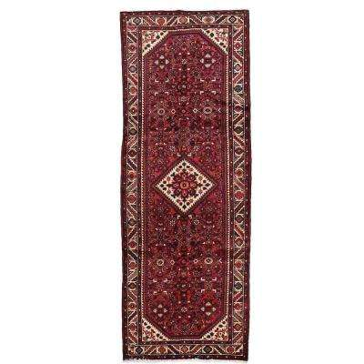 Hamadan Red 4 ft. x 10 ft. Runner Rug