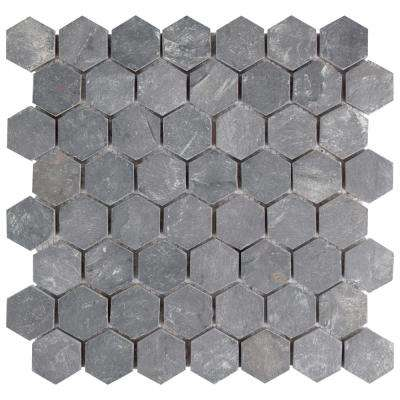 Crag Hexagon Black 11 1 8 In X