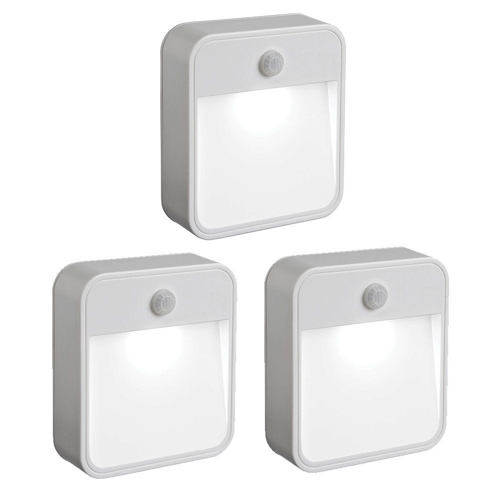 Mr Beams Outdoor Wireless Motion Sensing LED Stick Anywhere Light  (3 Pack) MB723   The Home Depot