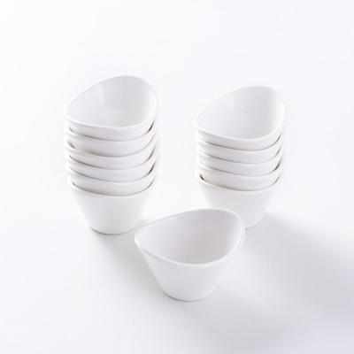 2.5 in. White Porcelain Ramekins Serving Bowls for Souffle Dishes (Set of 12)