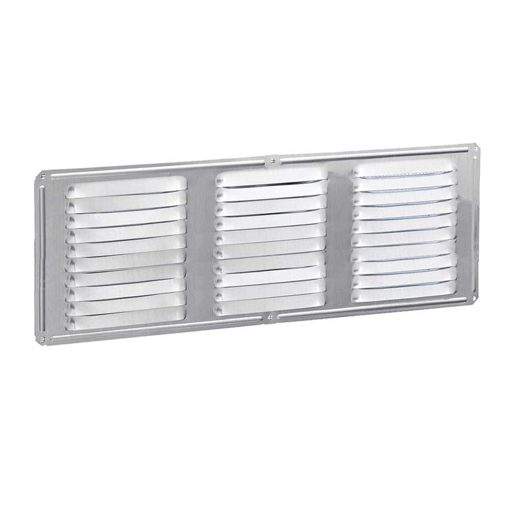 16 in. x 6 in. Aluminum Louvered Soffit Vent in Mill