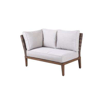 Chandler Lakes Corner Outdoor Sectional Chair with Sunbrella Beige Cushion