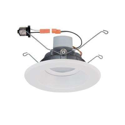 6 in. White Recessed LED Trim