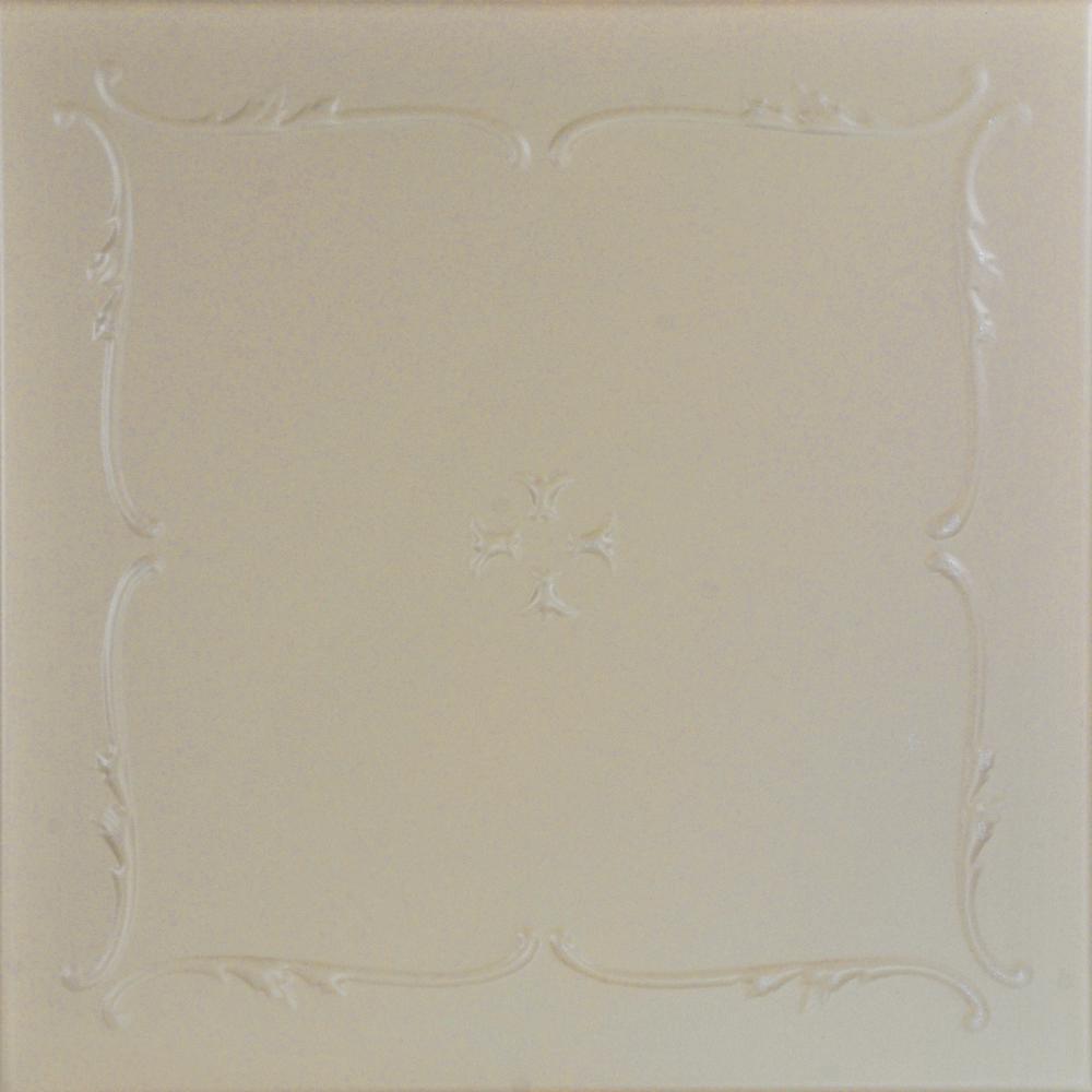 Spring Buds 1.6 ft. x 1.6 ft. Foam Glue-up Ceiling Tile in Lenox Tan