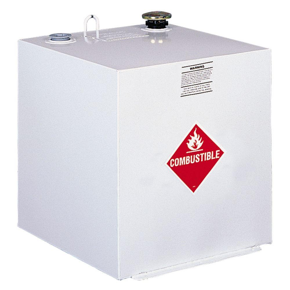 Square Steel Liquid Transfer Tank in White