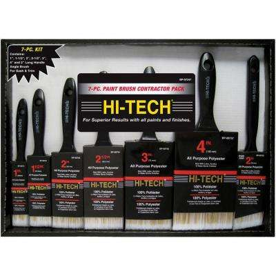 7-Piece Polyester Paint Brush Set