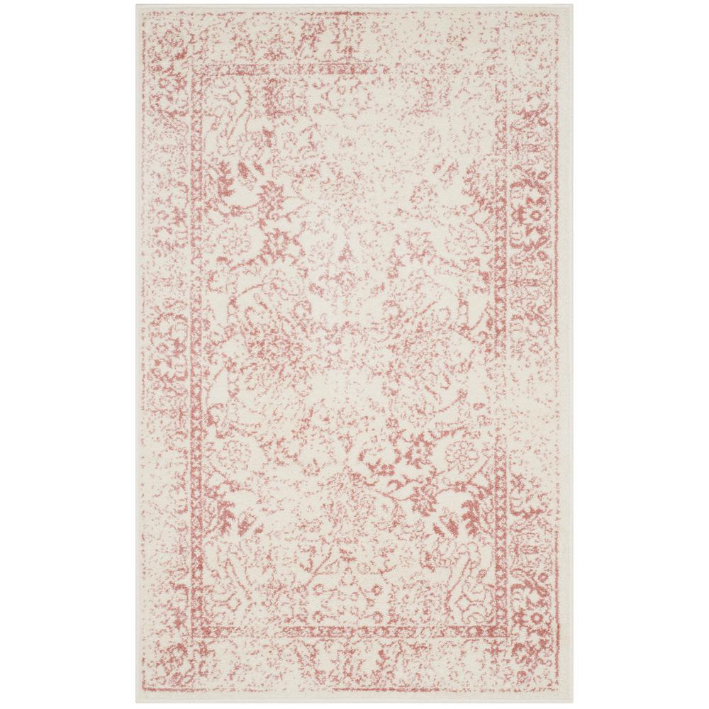 Adirondack Ivory/Rose 3 ft. x 5 ft. Area Rug