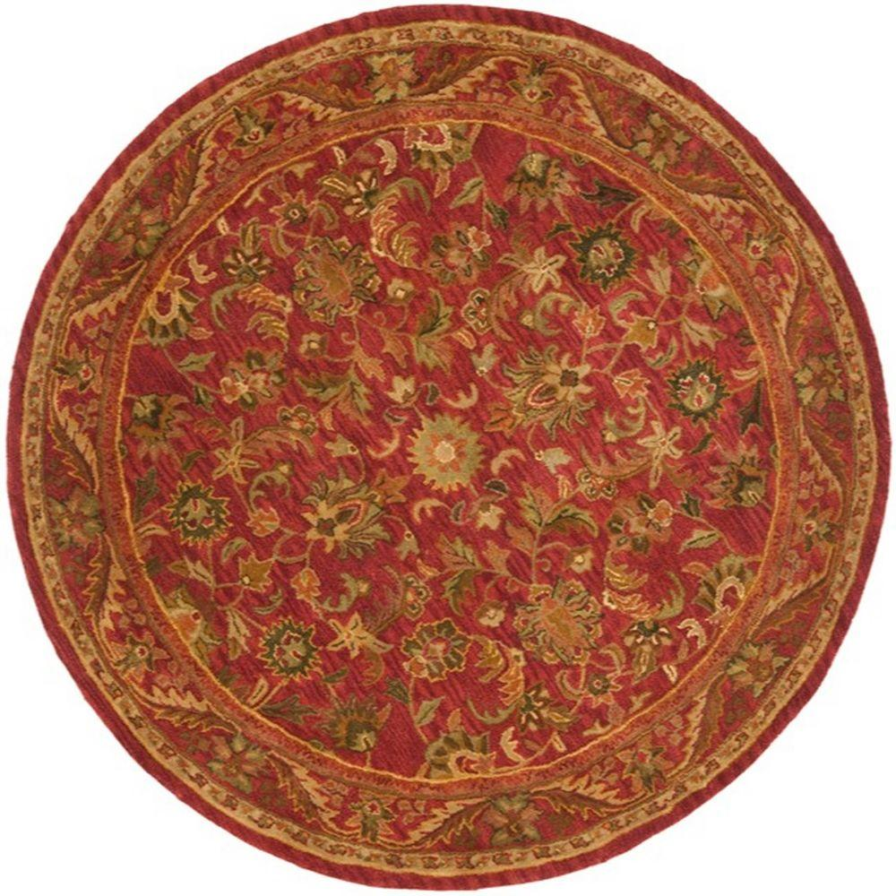 Safavieh Antiquity Red 6 Ft X 6 Ft Round Area Rug At52e 6r The