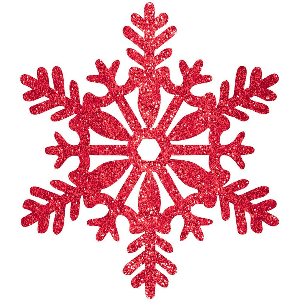 """New~5 Sparkling Gold 4/"""" SNOWFLAKE Christmas ORNAMENTS"""