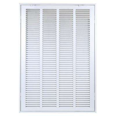 16 in. x 25 in. White Return Air Steel Grille Is Designed to Cover Rectangular Duct Opening of 16 in. W x 25 in. H