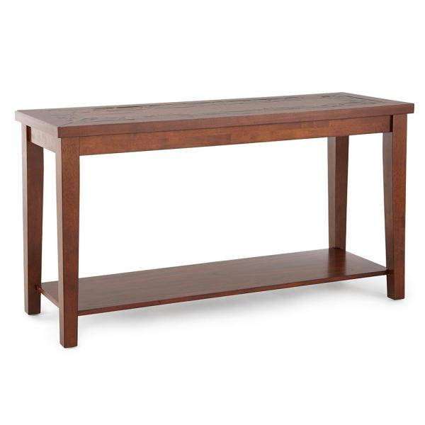 Davenport Brown Cherry Sofa Table