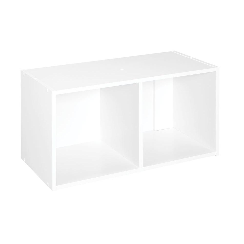 ClosetMaid 24 in. W x 12 in. H White Stackable 2-Cube Organizer