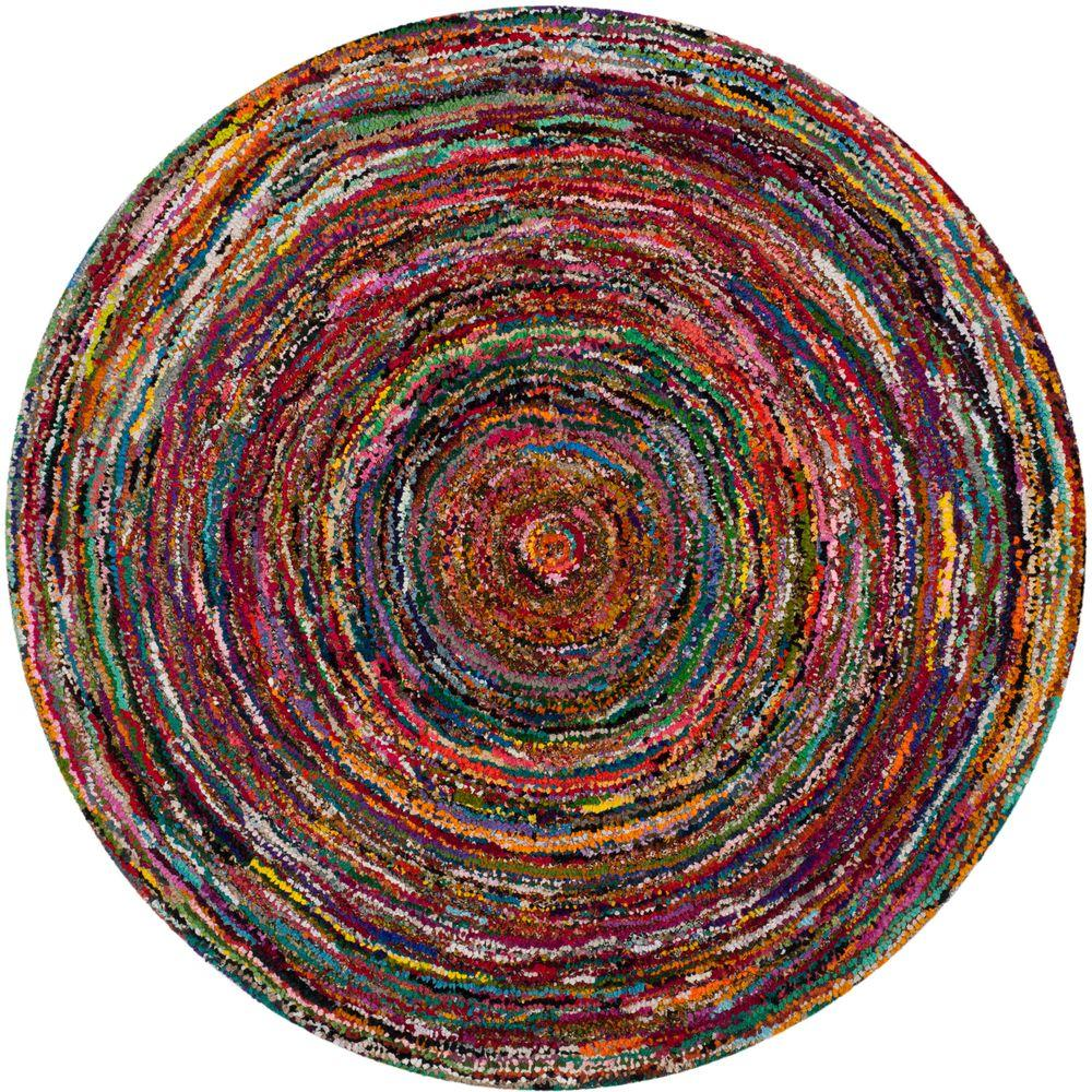 Safavieh Nantucket Multi 6 Ft X 6 Ft Round Area Rug