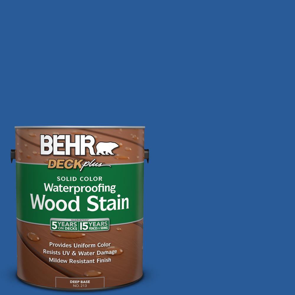 1 gal. #P510-7 Beacon Blue Solid Color Waterproofing Wood Stain