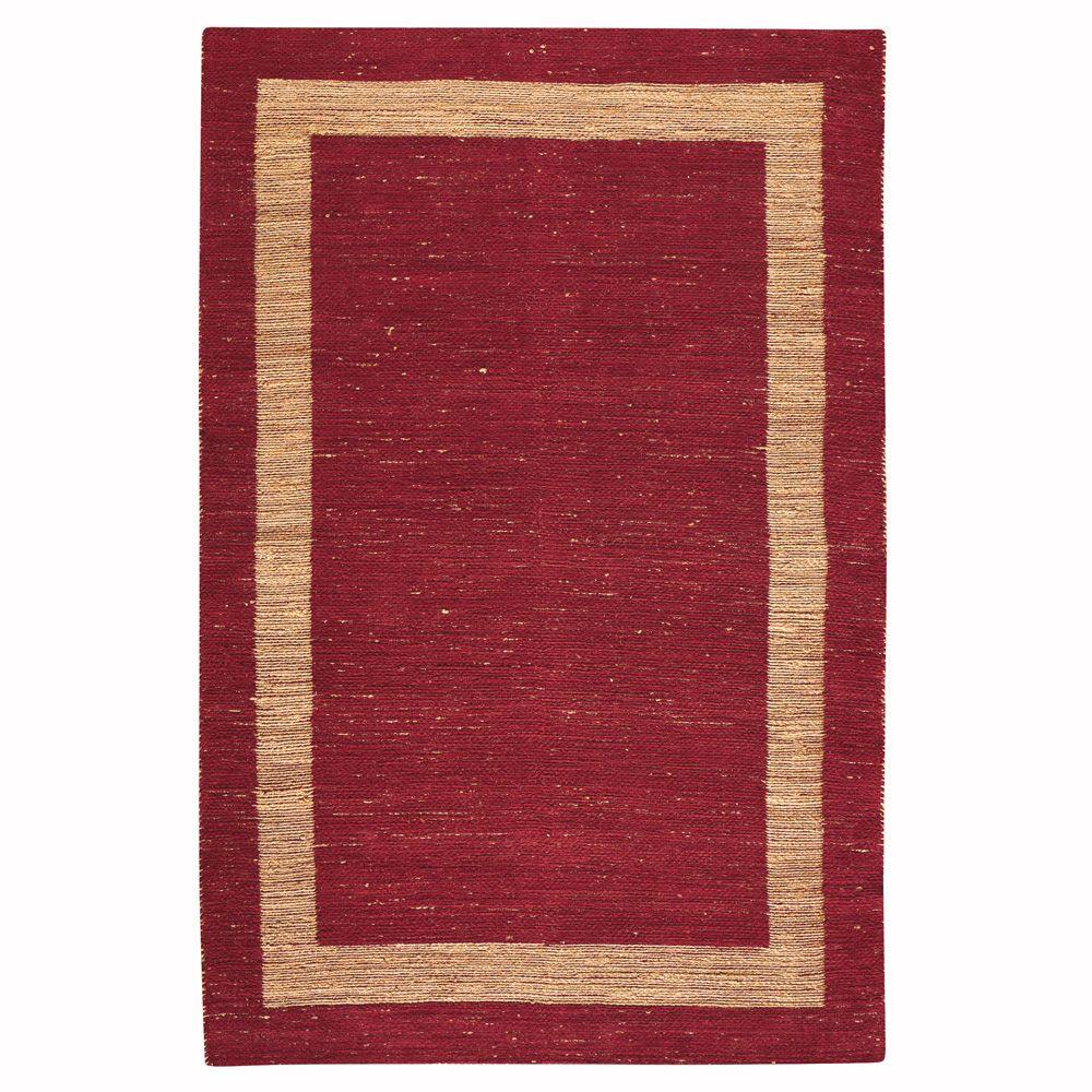 Boundary Red 8 ft. x 11 ft. Area Rug
