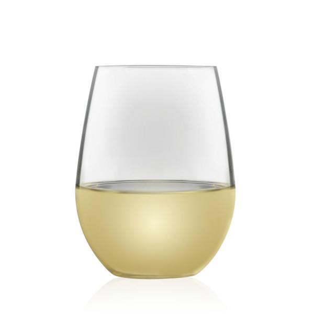 Libbey Signature Kentfield Estate 4-Piece All-Purpose Stemless Wine Glass Set