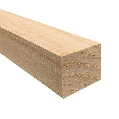 2 in. x 2 in. x 3 ft. Square Hobby Board Kiln Dried S4S Oak Board (9-Piece)