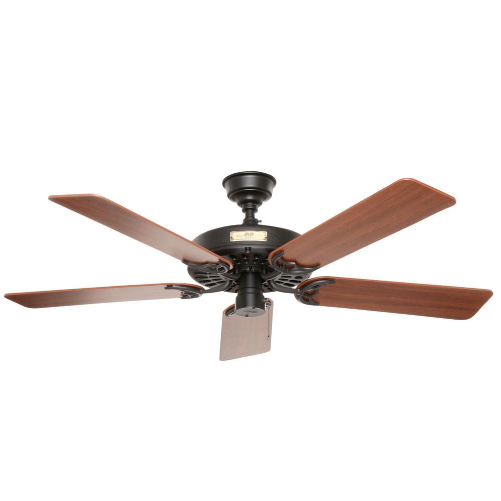 Indoor Outdoor Black Ceiling Fan 23838, Home Depot Hunter 52 Inch Ceiling Fans