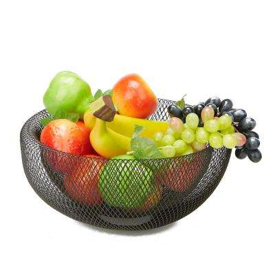 Black Medium Mesh Decorative Fruit Bowl