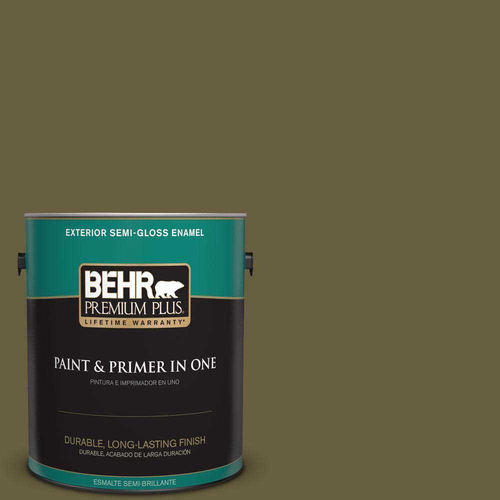 1-gal. #ICC-88 Classic Olive Semi-Gloss Enamel Exterior Paint