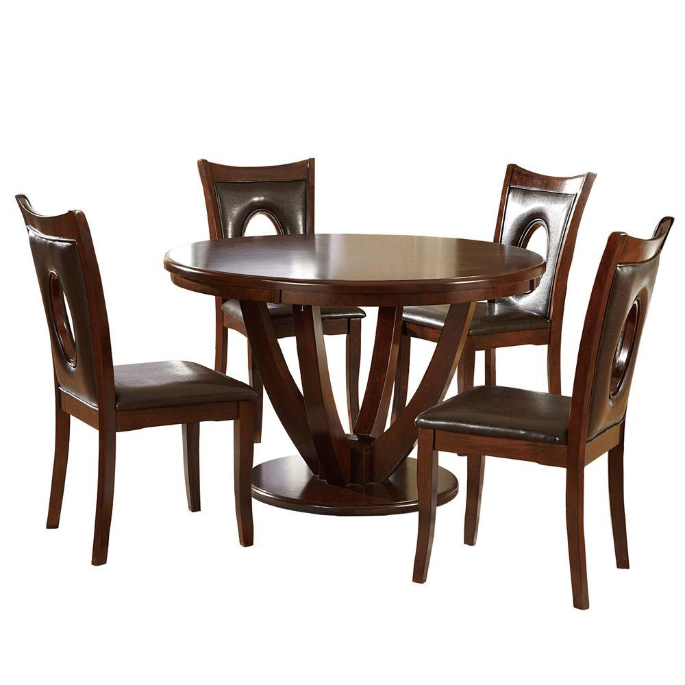Cherry Dining Sets: HomeSullivan Holmes 5-Piece Rich Cherry Dining Set-402568