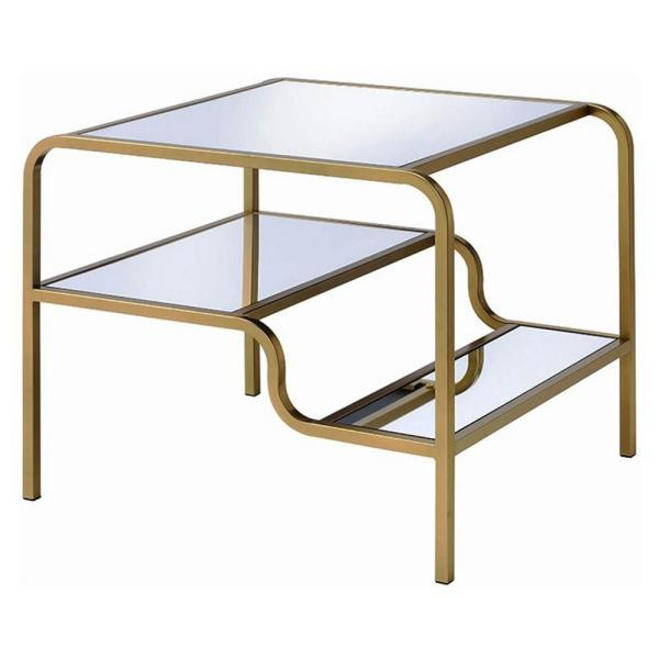 Amelia Gold Traditional End Table