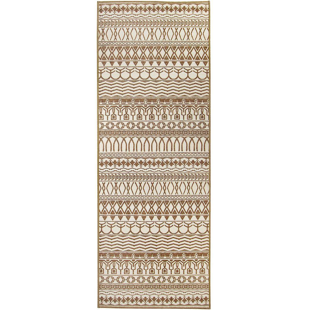 Washable Cadiz Natural 2.5 ft. x 7 ft. Stain Resistant Runner Rug