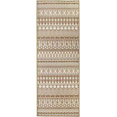 Washable Cadiz Natural 2.5 ft. x 7 ft. Stain Resistant Runner Rug