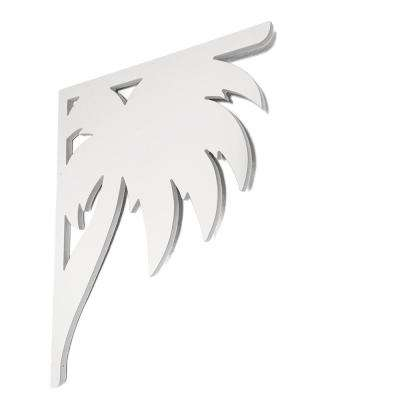 Decorative 16 in. PVC Palm Mailbox or Porch Bracket