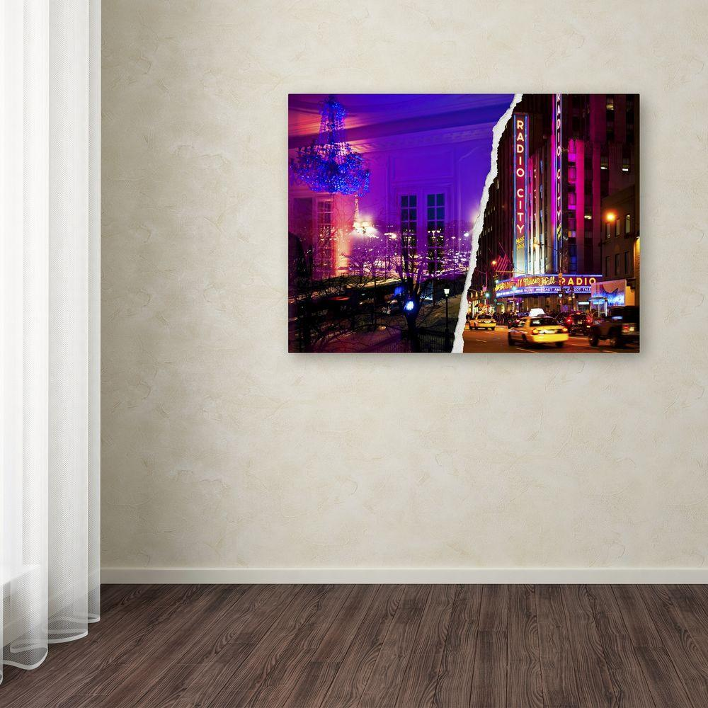 "24 in. x 32 in. ""City Dreams"" by Philippe Hugonnard Printed"