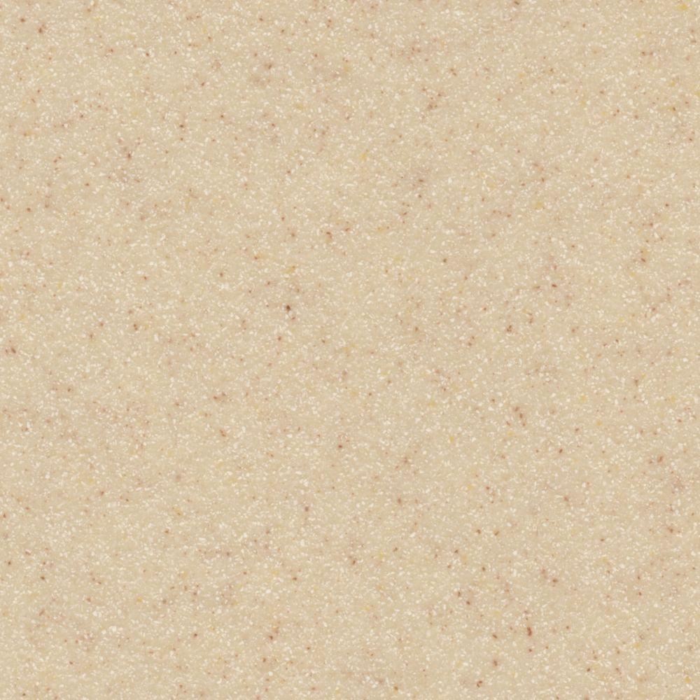LG Hausys HI-MACS 2 in. x 2 in. Solid Surface Countertop Sample in Vanilla Sugar