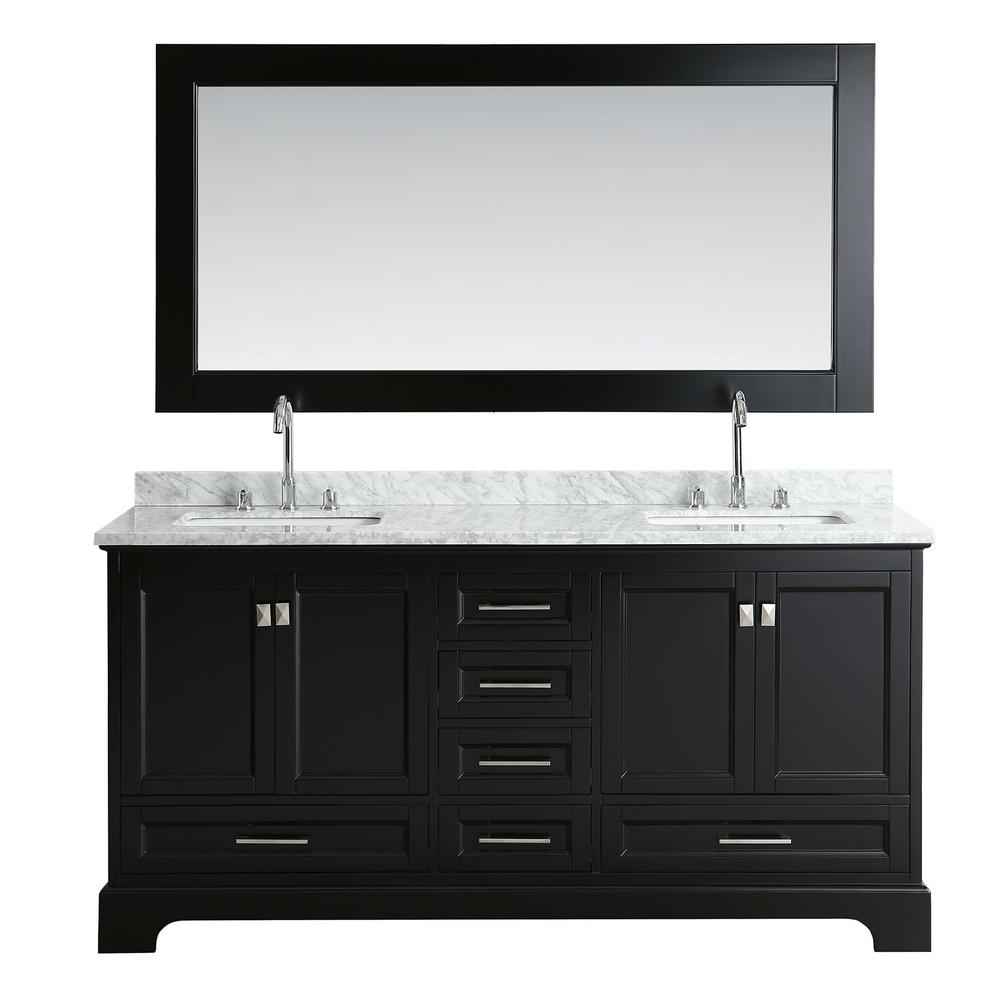 Design Element Omega 72 in. W x 22 in. D Vanity in Espresso with ...