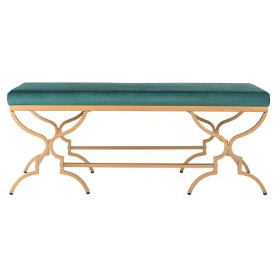 Juliet Emerald/Gold Bench