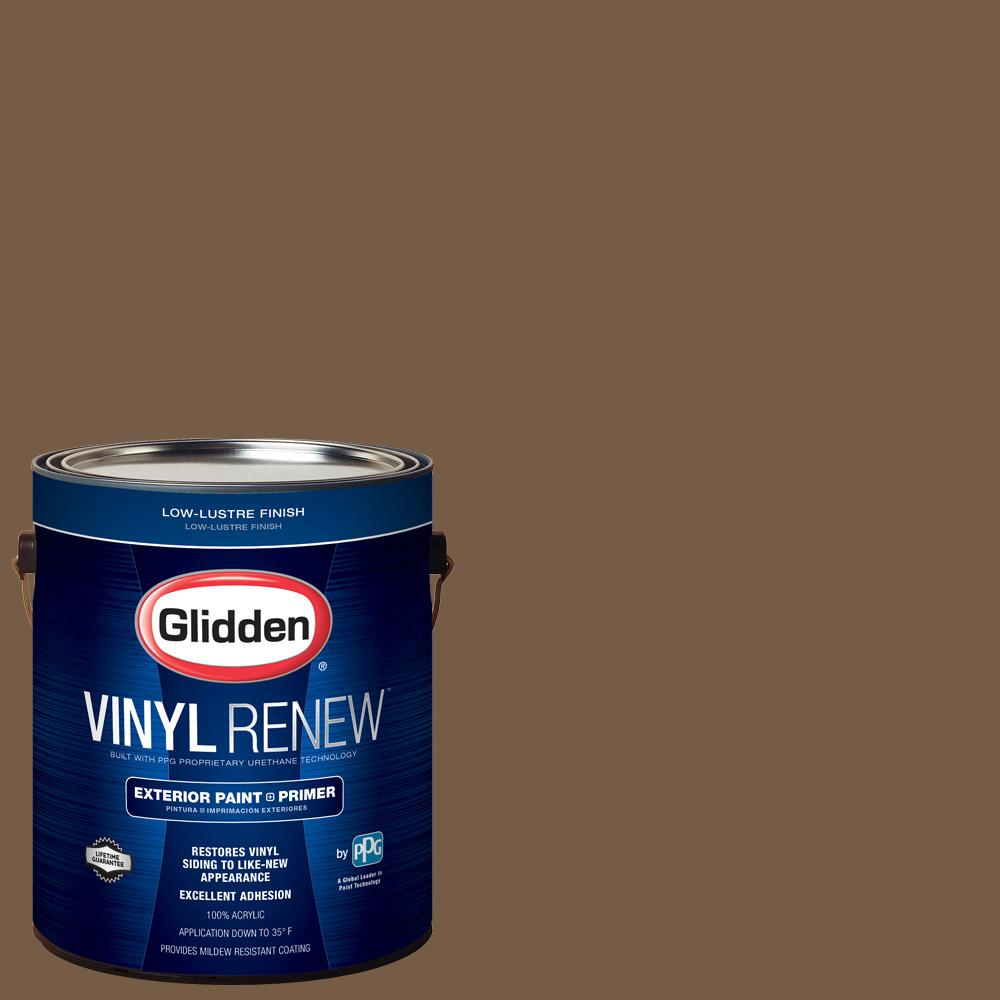 Glidden Vinyl Renew 1 Gal Hdgo52 Brown Study Low Lustre Exterior Paint With Primer Hdgo52v 01v