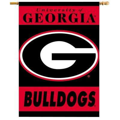 NCAA 28 in. x 40 in. Georgia 2-Sided Banner with Pole Sleeve