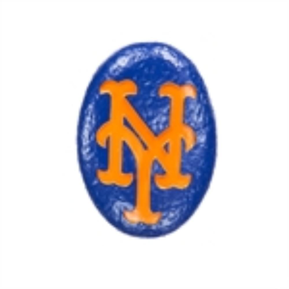 New York Mets 3 in. x 2 in. Decorative Garden Rock