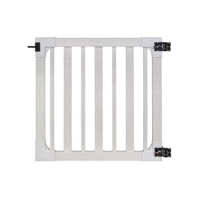 4 ft. x 4 ft. Sturbridge Vinyl Yard and Pool Fence Gate with Stainless Steel Hardware