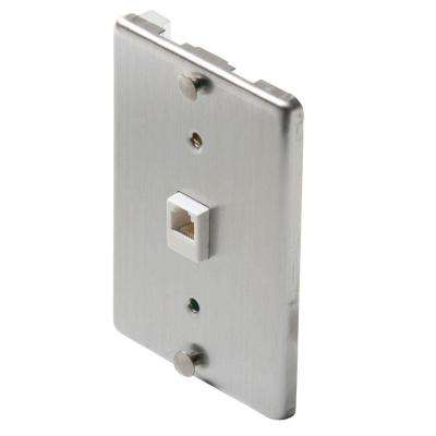 1 Gang Wall Phone Jack- Steel