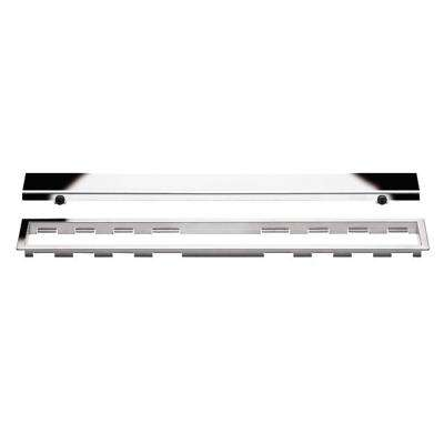 Kerdi-Line Chrome 23-5/8 in. Closed Grate Assembly with 3/4 in. Frame