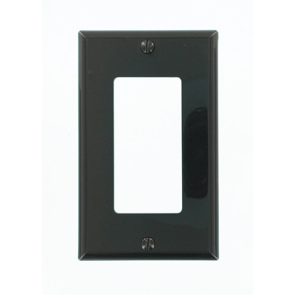 1-Gang Decora Nylon Wall Plate, Black