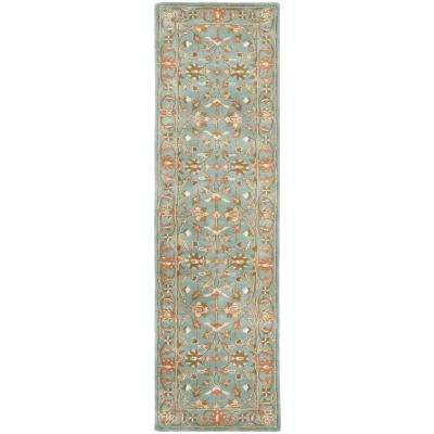 Heritage Blue 2 ft. x 18 ft. Runner Rug
