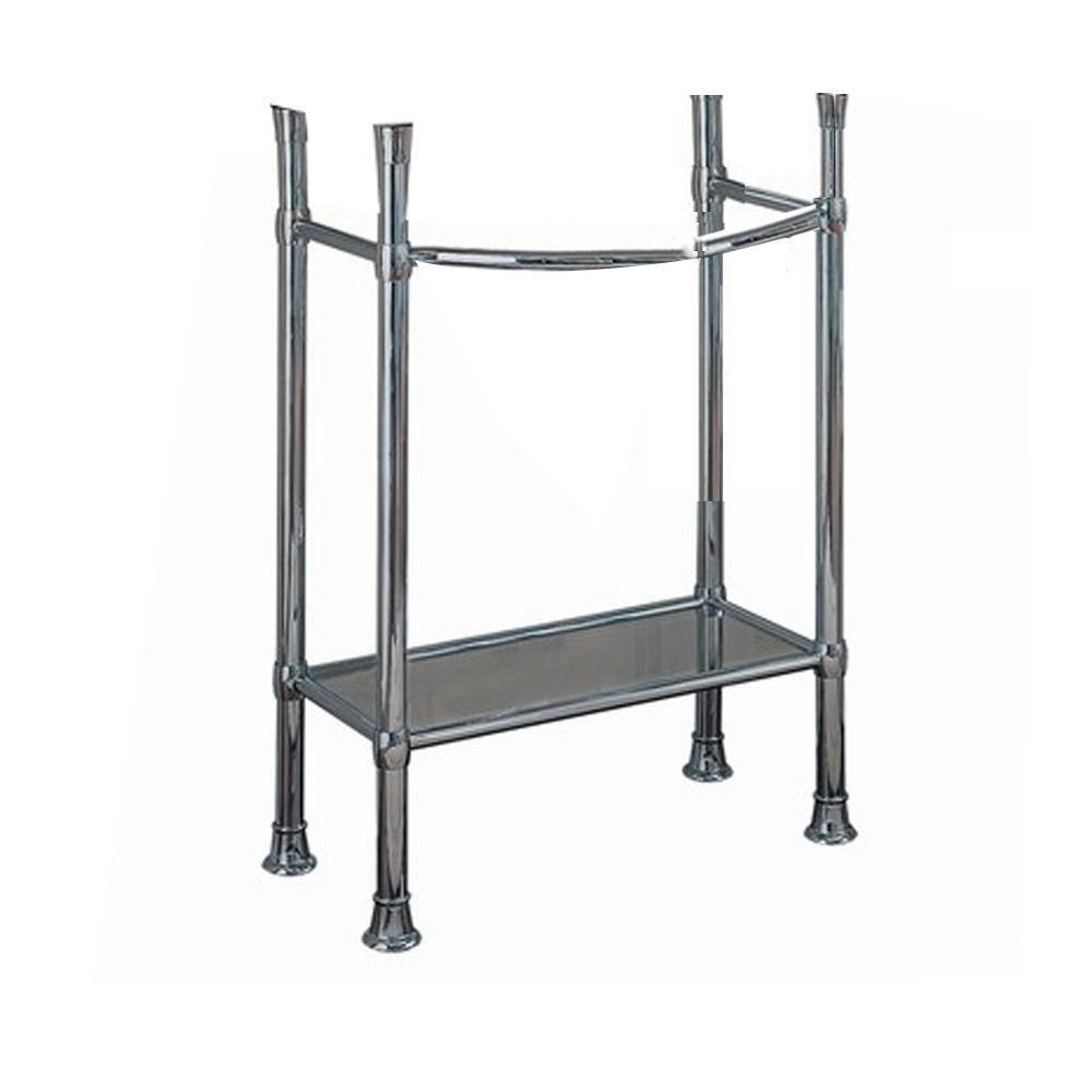 American Standard Retrospect Console Table Legs In Polished Chrome