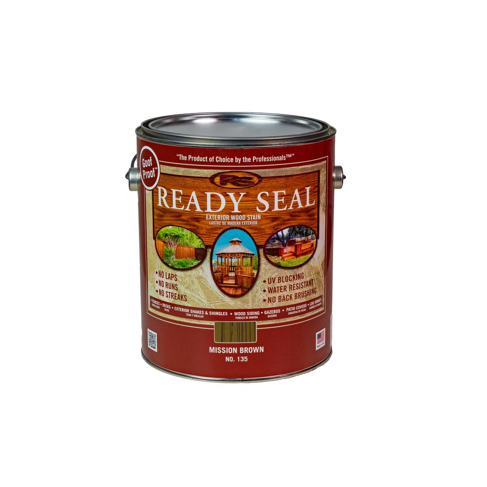 Ready Seal 1 Gal. Mission Brown Exterior Wood Stain and Sealer