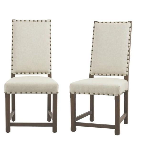 Home Decorators Collection Andrew Beige Dining Chair (Set of 2) 6379910560