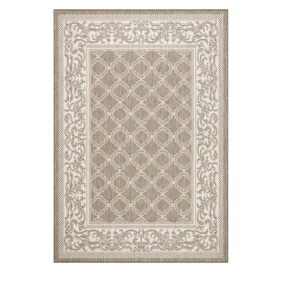 Entwined taupe/Champagne 2 ft. x 4 ft. Area Rug