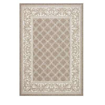 Entwined Taupe/Champagne 4 ft. x 5 ft. Area Rug