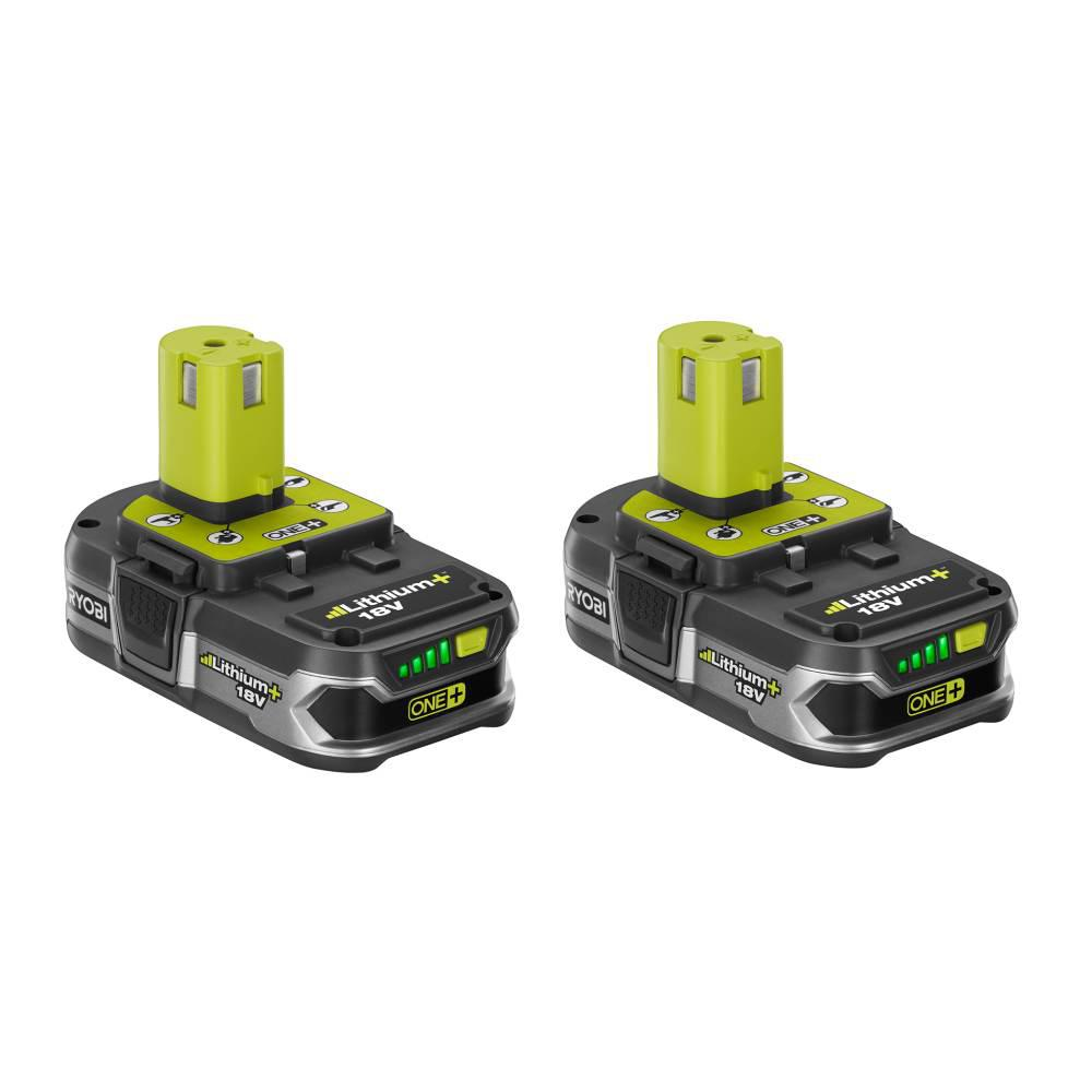 RYOBI 18-Volt ONE+ Lithium-Ion 1.5 Ah LITHIUM+ High Capacity Compact Battery 2-Pack