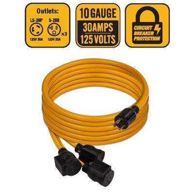 L5-30P to 3 x 5-20R 25 ft. Power Cord